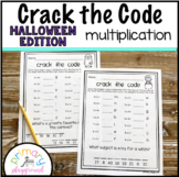 Crack the Code Math Multiplication Halloween Edition No Prep