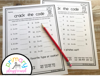 Crack the Code Math Pirate Edition Multiplication