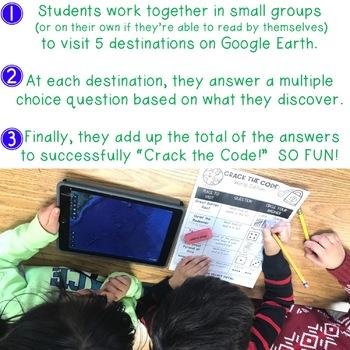 Crack the Code: May Edition for Google Earth : Math . Landforms . Teamwork . FUN