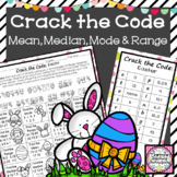 Crack the Code Mean Median Mode and Range Activity
