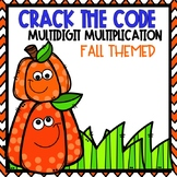 Crack the Code Multi-Digit Multiplication Fall Themed
