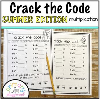 Crack the Code Math Multiplication Summer Edition 2nd - 3rd grade