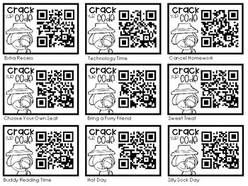 Crack the Code Mystery Rewards {QR Codes}