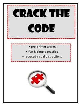 Crack the Code Pre-primer words