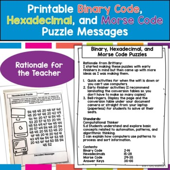 Crack the Code Puzzles for Technology Class