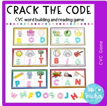 Crack the Code! Secret cvc word cards