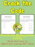 Crack the Code Spelling Center - Grade 1 - Aligned with Journeys 2017: Units 1-6