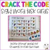 Crack the Code Task Cards: Sight Word  Pre-Primer