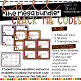 Crack the Codes Fall MEGA BUNDLE Task Cards