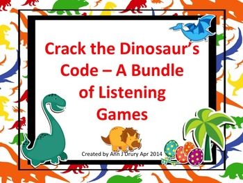 Crack the Dinosaur's Code - A Bundle of Listening Challenge Games