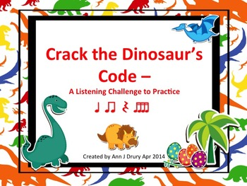 Crack the Dinosaur's Code - A Listening Challenge to Practice Sixteenth Notes