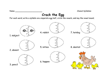 Crack the Egg - Closed Syllables