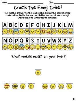 Crack the Emoji Code - Music Jokes