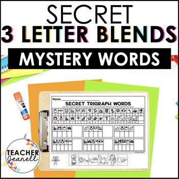 Trigraphs 3 Letter Blends Worksheets Crack the Code