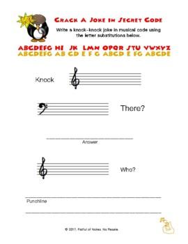 Crack the Secret Code:  Music Note Cypher Activity