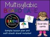 Crack the code! Multisyllabic Words Board Game