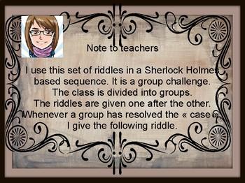 Crack Sherlock Holmes' riddles !