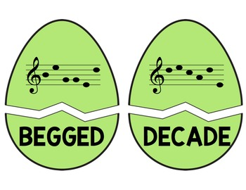 Cracked Egg Challenge: Identifying 5- and 6-Letter Words Using the Treble Clef