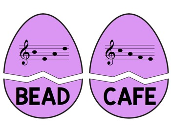 Cracked Egg Challenge: Identifying Four-Letter Words in the Treble Clef Staff