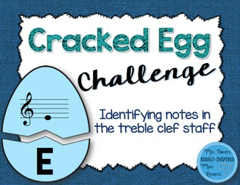Cracked Egg Challenge: Identifying the Notes of the Treble Clef Staff