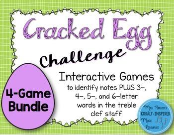 Cracked Egg Challenge Interactive Game {Treble Clef Bundle}