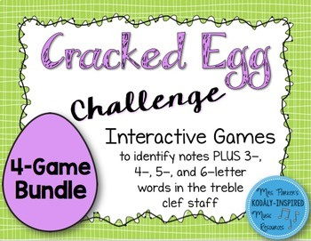 Cracked Egg Challenge Interactive Game {Treble Clef Bundle}