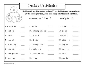 Cracked Up Syllables