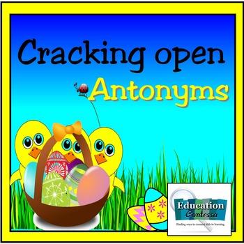 Cracking Open Antonyms File Folder Game