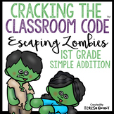 Halloween Escape Room 1st Grade Addition Math Cracking the Classroom Code™