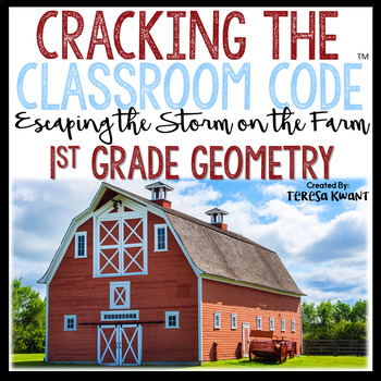 Cracking the Classroom Code™ 1st Grade Math Escape Room Game Geometry
