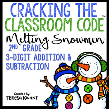 Cracking the Classroom Code™ 2nd Grade 3-Digit Addition and Subtraction Escape
