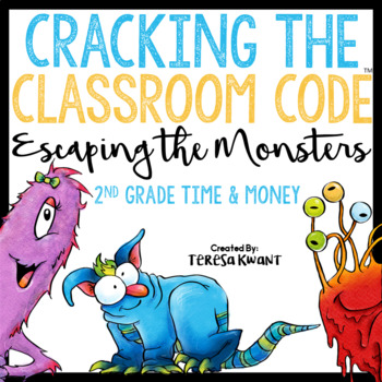 Cracking the Classroom Code™ 2nd Grade Time and Money Escape Room