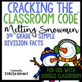 Cracking the Classroom Code™ 3rd Grade Simple Division Snowmen Escape Room