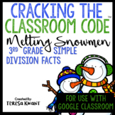 Cracking the Classroom Code™ 3rd Grade Simple Division Snowmen Escape Room
