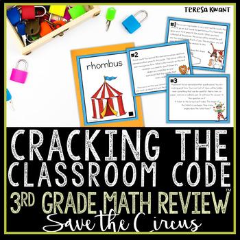 Cracking the Classroom Code™ 3rd Grade Geometry Escape Room