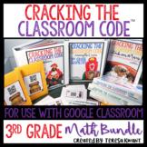 Cracking the Classroom Code™ 3rd Grade Math Bundle Escape Room Games