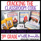 Cracking the Classroom Code™ 3rd Grade Math Bundle Escape Room Games