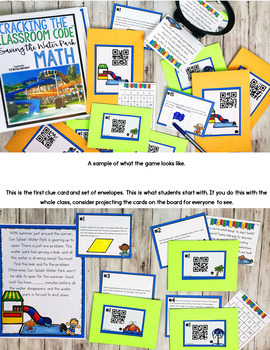 Cracking the Classroom Code™ 3rd Grade Math Escape Room Geometry