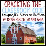 Cracking the Classroom Code™ 3rd Grade Math Escape Room Perimeter and Area