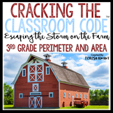 Cracking the Classroom Code™ 3rd Grade Math Escape Room Perimeter and Area