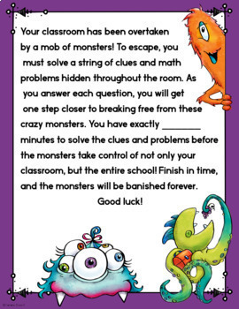 Cracking the Classroom Code™ 3rd Grade Fractions Escape Room