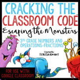 Cracking the Classroom Code™ 3rd Grade Fractions Escape Room | Distance Learning