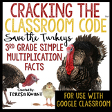 Cracking the Classroom Code™ 3rd Grade Thanksgiving Multiplication Escape Room