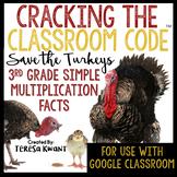 3rd Grade Thanksgiving Multiplication Math Escape Room | D