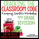 Cracking the Classroom Code™ 4th Grade Division Christmas Math Escape Room