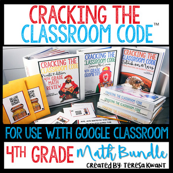 Cracking the Classroom Code™ 4th Grade Math Bundle Escape Room Games