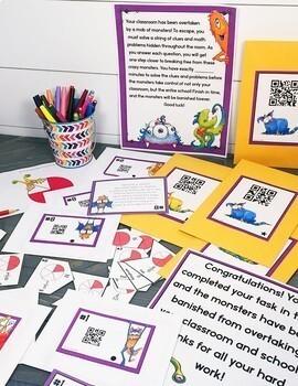 Cracking the Classroom Code™ 4th Grade Math Bundle Escape Room Games