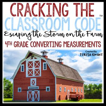 Cracking the Classroom Code™ 4th Grade Math Escape Room Converting Measurements