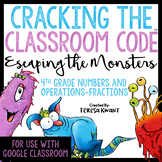 Cracking the Classroom Code™ 4th Grade Fractions Escape Room | Distance Learning