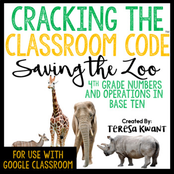 Cracking the Classroom Code™ 4th Grade Operations in Base Ten Escape Room
